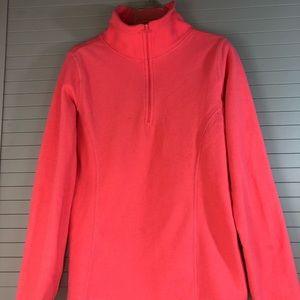 Old Navy 1/4 Zip Fleece Sweater Neon Carol Size:S